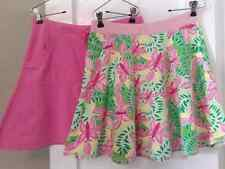 Lot of 2: LILLY PULITZER STRETCH SKIRTS SIZE Small Butterflies / Solid Pink