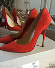 Jimmy Choo ANOUK Red Suede Sexy pumps sz 36