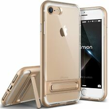 iPhone 8 Case (Diamont - Gold Sand) (Crystal Clear Slim Fit) Premium TPU/PC H...