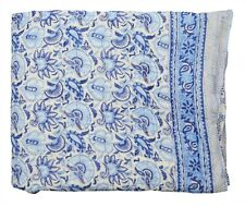 Cotton Handmade Floral Print Indian Ethnic Winter Reversible Quilt Throw Blanket