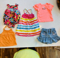 Girls Baby Clothes Size 18 Months Summer Lot Rainbow Dress Tanks Shorts Romper