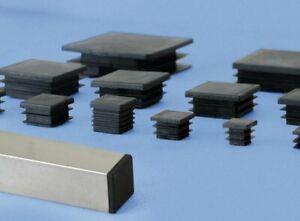 Bouchon plastique pour tube carré embout plastique 15mm à 100mm
