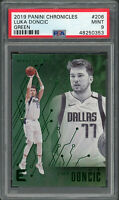 Luka Doncic Dallas Mavericks 2019 Panini Chronicles Green Card #206 PSA 9