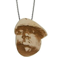 CNBIGGIENAT-1S Good Wood NYC Chained Necklace - Biggie (natural wood)