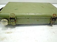 Old Vintage Iron Enamel Flashlight   Army Signal Torch Lamp BOX
