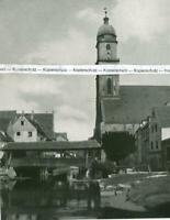 Amberg in der Oberpfalz - Stadtpfarrkirche mit Fischersteg - um 1925     U 24-6