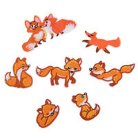 fox iron on patch sewing embroidery applique kids children hair bow accessorieFO