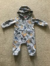 Disney Mickey Mouse Baby Boy Hooded Pramsuit Babygrow 0-3 months