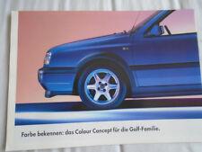 VW Golf Colour Concept brochure Oct 1994 German text