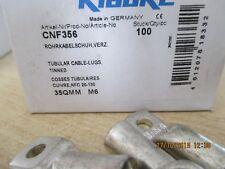 100 cosse cuivre etamé35mm² - m 6 , klauke