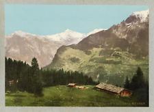 P.Z., Suisse, Sur le chemin de Mürren, ca.1895, vintage photochrome 78 vintage p