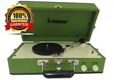 BRAND NEW Steepletone Portable Vinyl Turntable Record Player With Speaker Green