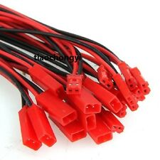 100 Pairs 10cm JST Connector Plug Cable Line Male+Female for RC BEC Lipo Battery