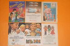 lotto 6 pubblicità topolino anni 80 bambole furga advertising vintage italy doll