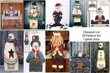 LG LOT OF 10 Christmas / Winter/ Snowman  Wood Patterns Closeout Sale LOT #13