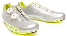 Giro Empire ACC Carbon Men Road Gravel Bike Shoes Boa Dial EU 42.5 US 9.5 Silver