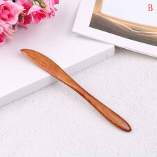 Delicate Natural Wooden Butter Knife Cheese Spreader Handcraft Kitchen tool HT