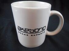 Vintage Akebono Brake Experts coffee cup mug Akebono SWAG Advertising Mug