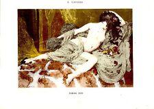 PLANCHE COULEUR DE A. LAURENS FIN 19è EROTISME FEMME NUE