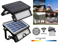 LED Solar Lampe 10W 5W mit Bewegungsmelder Außen Fluter Sensor Strahler Leuchte