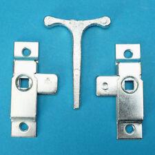 2 x universal Budget Door Locks & T Key for Trailers Horsebox Coach Bus