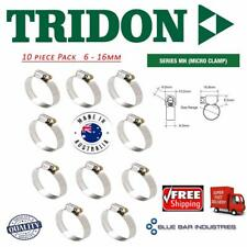 Hose Clamps 6 -16mm Tridon Aussie Made Pk10 Stainless Perforated Band Automotive