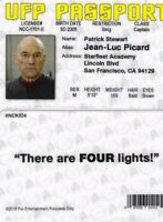 Star Trek Captain Picard PATRICK STEWART plastic fake ID card Drivers License