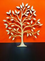 Mdf Family Tree Circle 20cm 4mm with 6 x 3cm hearts free per tree