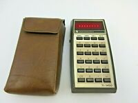 Vintage Texas Instruments TI-1450 Red LED Calculator in Original Case