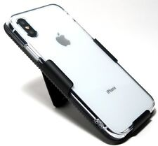 Apple iPhone XS SHOCKPROOF CRYSTAL CLEAR SLIM TPU CASE with BELT CLIP HOLSTER