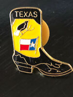 Vintage Collectible Texas Boot Colorful Metal Pin Back Lapel Pin Hat Pin