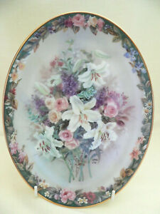 """Collectable Floral Plate """"Everlasting"""" Fourth Issue in Lena Liu's Floral Cameos"""