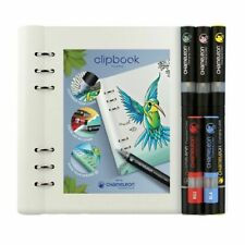 Filofax Clipbook A5 White Set With Chameleon Pens 145016