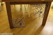 Conjunto de 4 telarañas De Halloween Negro Plástico Puerta Ventana Póster Decoración de pared webs