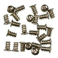 Pack of 25 5x8mm Silver PC Fan Screws - Computer Case Chassis 80mm/120mm
