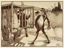 MARRIOTT DON QUIXOTE CAGED LION PRINT ONLY ART POSTER HP3762