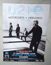 MADRID Poster Affiche U2 eXPERIENCE + iNNOCENCE TOUR 2018 rare promo songs Bono