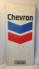Chevron Gas Station Pump Metal Front Store Sign Fuel Panel Advertising