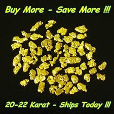 .490 Gram Natural Raw Alaskan Placer Panned Gold Nugget Flake 18-20k From Alaska