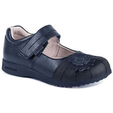 PEDIPED 'SARAH' GIRLS BLACK LEATHER SCHOOL SHOES 7-7.5