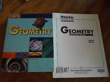 Bob Jones Geometry Text Student Edition New with Test Packet Lot of 2 New