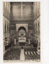 St Bartholomews Church Brighton Sussex Vintage RP Postcard 504b