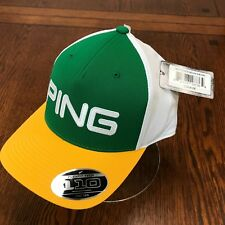 2018 Ping Structured Adjustable Golf Hat Cap - Yellow / Green - NEW