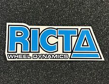 RICTA Wheel Dynamics Skateboard Stickers 5in