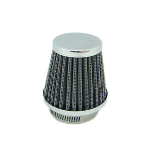 60 mm Universal Tapered Chrome Pod Air Filter for Motorcycle Cafe Racer | New