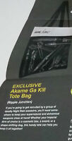 AKAME GA KILL TOTE BAG RIPPLE JUNCTION ! NEW IN PLASTIC MUST HAVE FOR A FAN!
