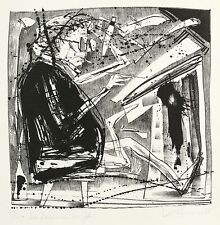 Steffen volmer-el dibujante (para Janssen) - litografía 1986