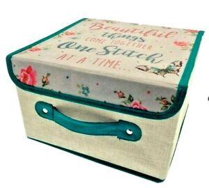Sewing Box Knitting Wool & Craft Storage Tidy Organiser Case Card Making Present