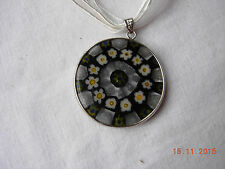 Necklace with glass cane disc Venice, Murano, pretty delicate piece