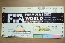 Ticket- 1988 Formula 1 World Championship~ GROSSER PREIS VON DEUTSCHLAND HOCKENH